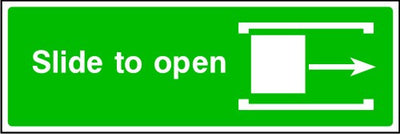 Right Slide To Open Emergency Sign