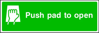 Push Pad To Open Fire Exit Sign