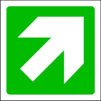 Fire Arrow Up Right Exit Sign