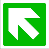 Fire Arrow Up Left Exit Sign