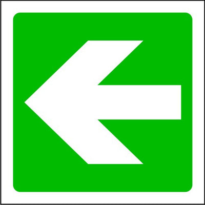 Left Fire Arrow sign