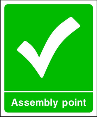 Assembly Point with Tick Sign