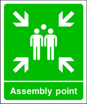 Assembly Point Emergency Escape Sign