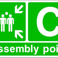 Assembly Point C Emergency Escape Sign