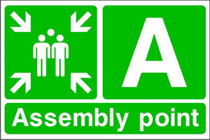 Assembly Point A Emergency Escape Sign