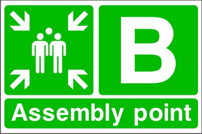 Assembly Point B Emergency Escape Sign