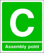 Assembly Point C Fire Escape Sign