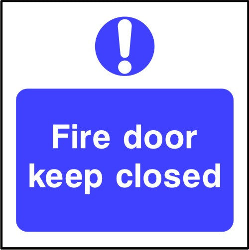 Fire door keep closed door safety sign