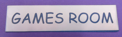 Engraved Acrylic Laminate Games Room Door Sign