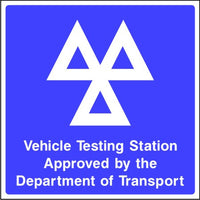 Vehicle Testing Station sign