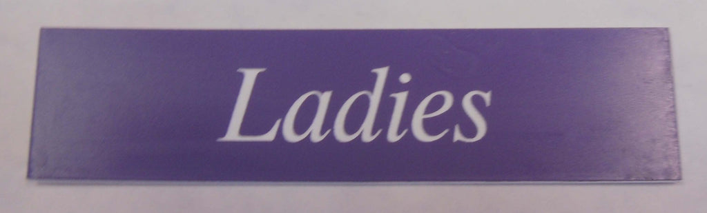 Engraved Acrylic Laminate Ladies Door Sign