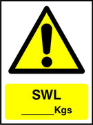 SWL Kgs sign