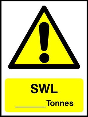 SWL Tonnes sign