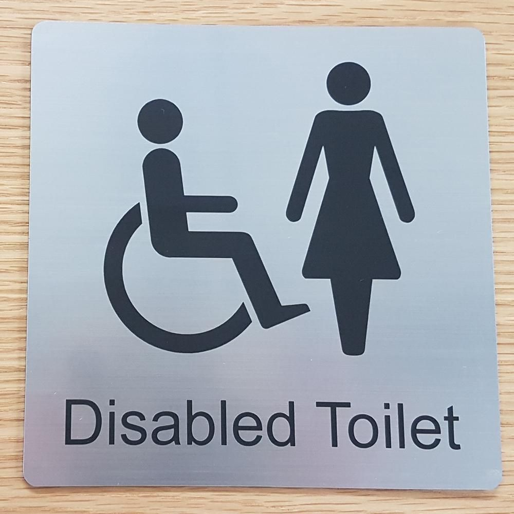 Ladies Disabled Toilet sign