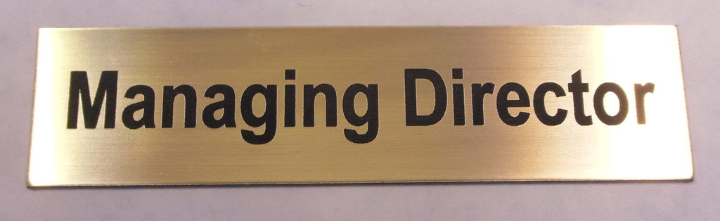 Engraved Acrylic Laminate Managing Director Door Sign