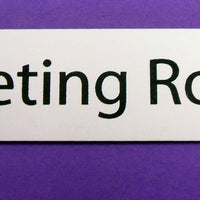 Engraved Acrylic Laminate Meeting Room Door Sign