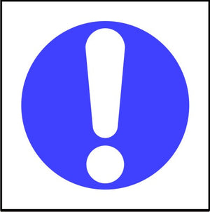 Exclamation Symbol Safety Sign