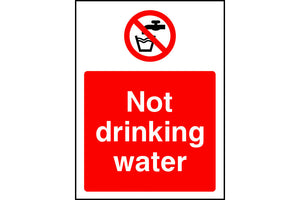 No Drinking Water safety sign