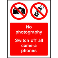 No photography switch off all camera phones sign