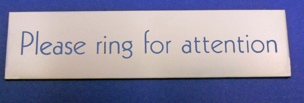 Engraved Acrylic Laminate Please Ring for Attention Door Sign