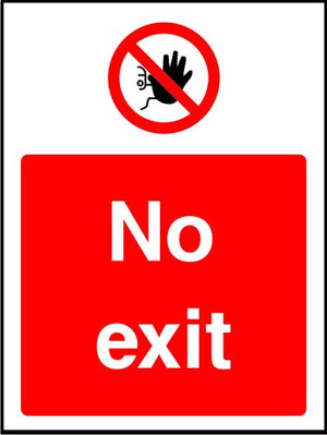 No Exit prohibition sign