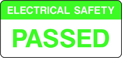 Electrical Safety Passed Labels