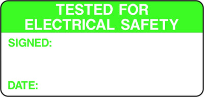 Tested for Electrical Safety Labels