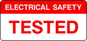 Electrical Safety Tested Labels