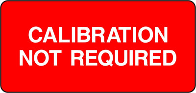 Calibration Not Required Labels