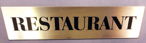 Engraved Acrylic Laminate Restaurant Door Sign