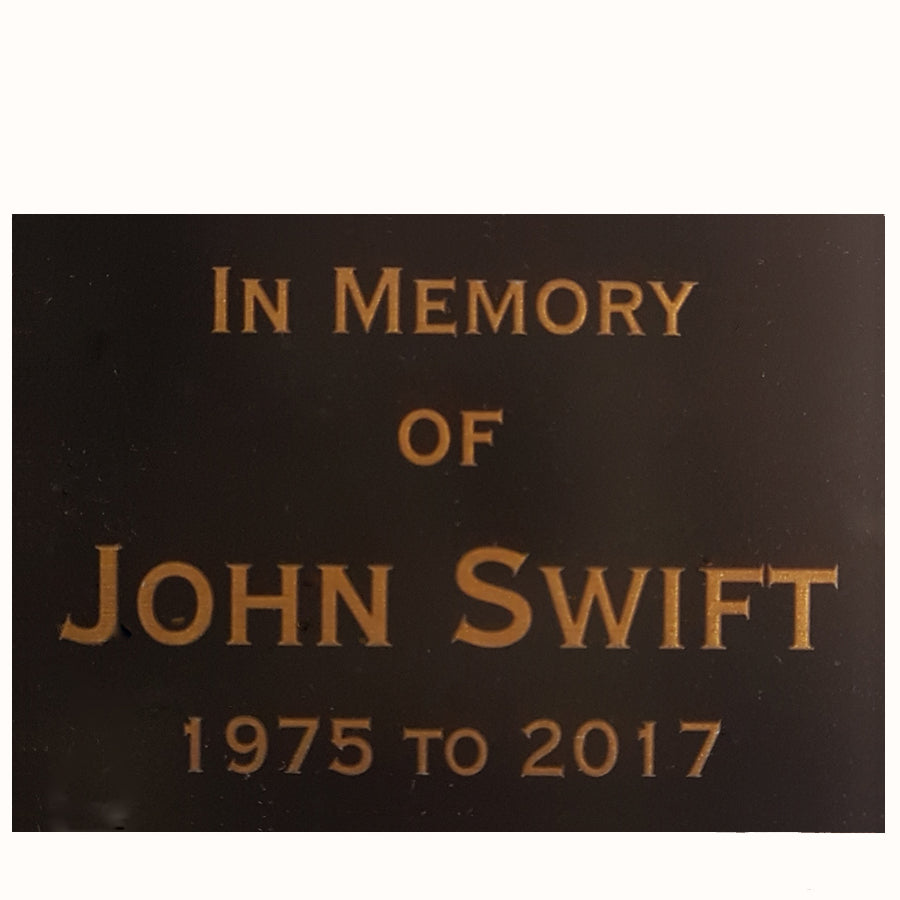 A5 Reverse Engraved Laminate Plaque