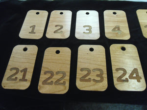 Engraved Wooden Key Tags