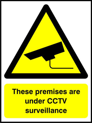 These premises are under CCTV surveillance sign
