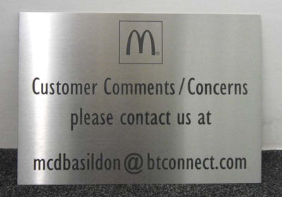 A3 Stainless Steel Plaque