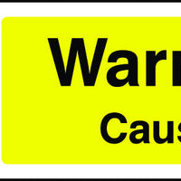 Warning Caustic Safety Sign