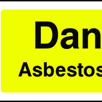 Danger Asbestos Hazard Sign