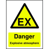 Danger Explosive Atmosphere EX safey sign