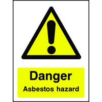 Danger Asbestos Hazard safety sign