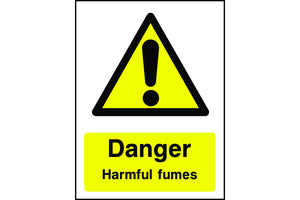 Danger Harmful Fumes Sign