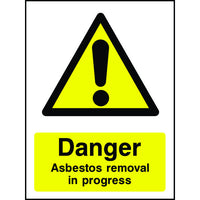 Danger Asbestos Removal in Progress safety sign