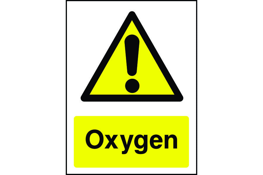 Oxygen Warning Safety Sign