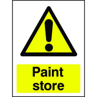 Paint Store warning safety sign