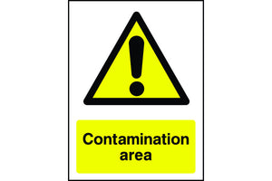 Contamination Area Warning Sign