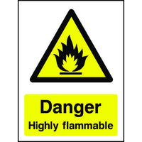 Danger Highly Flammable safety sign