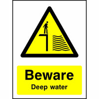 Beware Deep water safety sign