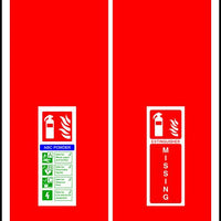 ABC Powder Fire Extinguisher Missing sign