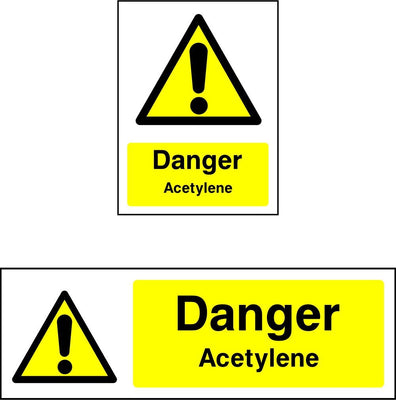 Danger Acetylene Safety Sign