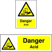 Danger Acid Chemical Safety Sign