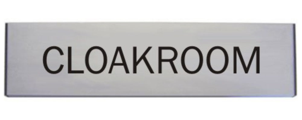 Engraved Aluminium Cloakroom Door Sign