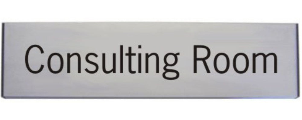 Engraved Aluminium Consulting Room Door Sign